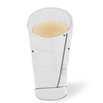 Конверт в коляску Esspero Maris Plus Y (флис + натуральный мех) - Milk