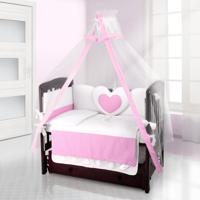 Балдахин на детскую кроватку Beatrice Bambini Bianco Neve - Puntini Rosa