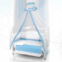 Комплект постельного белья Beatrice Bambini Unico Puntini (125х65) - bianco blu