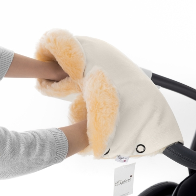 Муфта для рук на коляску Esspero Linda (100% овечья шерсть) - Beige
