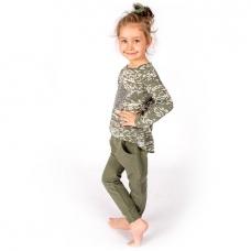 Костюм для девочки (блузка+брюки)