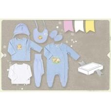 Комплект в коробке (9 предметов) голубой
