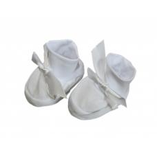 Пинетки из интерлока, белые