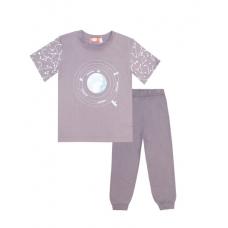 """Пижама для мальчика """"Космос"""" серая"""