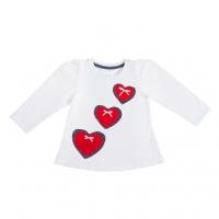 Кофточка для девочки (туника) - три сердечка