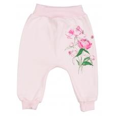 """Штанишки """"Пионы"""" розовый"""