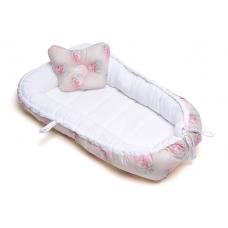 Гнездышко для новорожденного розовое утро
