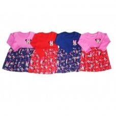 Платье для девочки с принтом длинный рукав Минни