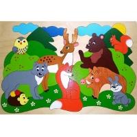 Мозайка Лесные звери