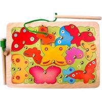 Магнитная мозаика Бабочки 24 детали, 2 удочки