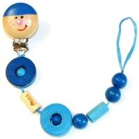 Клипса для пустышки Клоуны синий