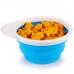 Дорожная тарелочка с крышкой голубой