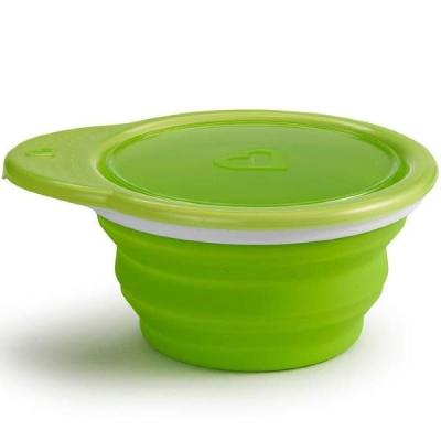 Дорожная тарелочка с крышкой зеленый