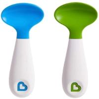 Ложки пластиковые 2 шт голубой/зеленый