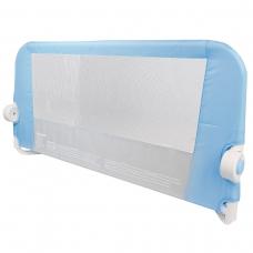 Защитный бортик для кровати на металлическом каркасе с тканью 95 см голубой