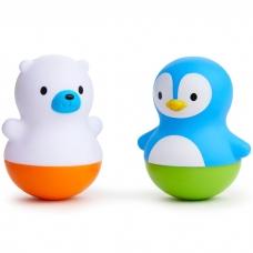 Игрушки для ванной поплавки Медведь и Пингвин