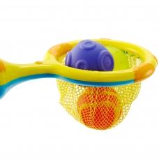 Игрушка для ванной 2 в 1 кольцо с мячиками брызгалками