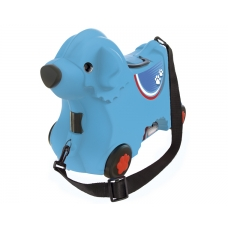 Детский чемодан на колесиках, синий