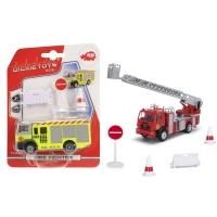Пожарная машина, 12 см, свободный ход