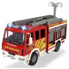 Пожарная машина с водой, 30 см, свет и звук, свободный ход