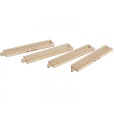 Набор прямых элементов деревянной ж/д, 4 дет Eichhorn