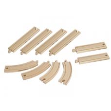 Набор элементов деревянной ж/д, 10 дет