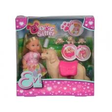 Кукла Еви с собачкой и щенками