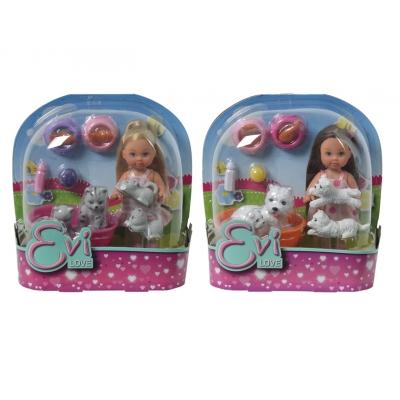 Кукла Еви с домашними животными
