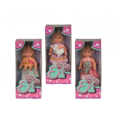 Кукла Еви с зверюшками