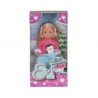 Кукла Еви в зимнем костюме