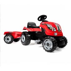 Трактор педальный XL с прицепом, красный