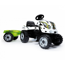Трактор педальный XL с прицепом, пятнистый