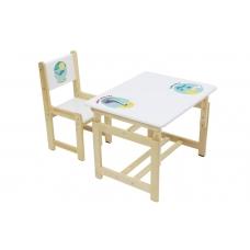 Комплект растущей детской мебели Polini kids Eco 400 SM, Дино 2