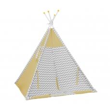 Палатка-вигвам детская Polini Зигзаг, желтый