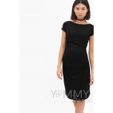 Платье из модала с коротким рукавом черное