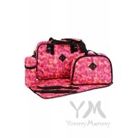 Сумка Double bag (2 в 1) розовая с принтом