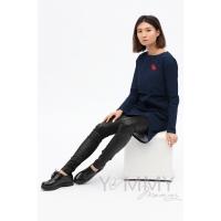 Универсальные брюки из эко-кожи черные