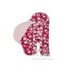 Конверт-кармашек черный с белыми и розовыми кругами