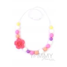 Слингобусы с цветком в розово-фиолетово-белой гамме