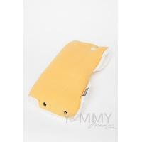 Муфта на коляску mustard с молочным мехом