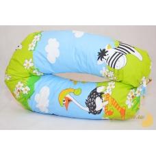 Подушка для беременных и кормления, веселые зверята