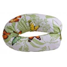 Подушка для беременных бумеранг, узор на салатовом
