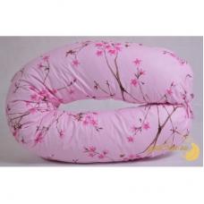 Наволочка на подушку для беременных, Сакура на розовом