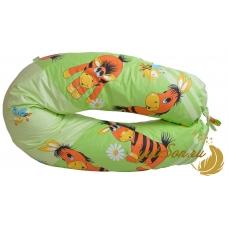 Подушка в форме бумеранга, веселый осленок