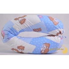 Подушка для беременных, мишки на голубом