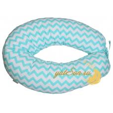 Стандартная подушка для беременных, зигзаг