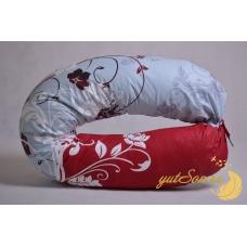 Подушка в форме бумеранга, премиум бордо