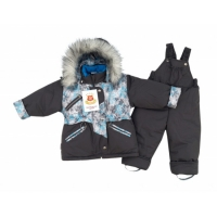 "Kостюм ""Аляска"" (зима) темно-серый принт снежинки серый"