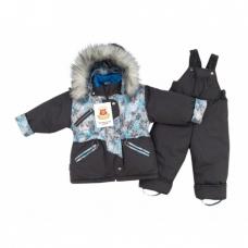 """Kостюм """"Аляска"""" (зима) темно-серый принт снежинки"""