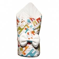 """Конверт-одеяло """"Жираф"""" с бантом на резинке"""